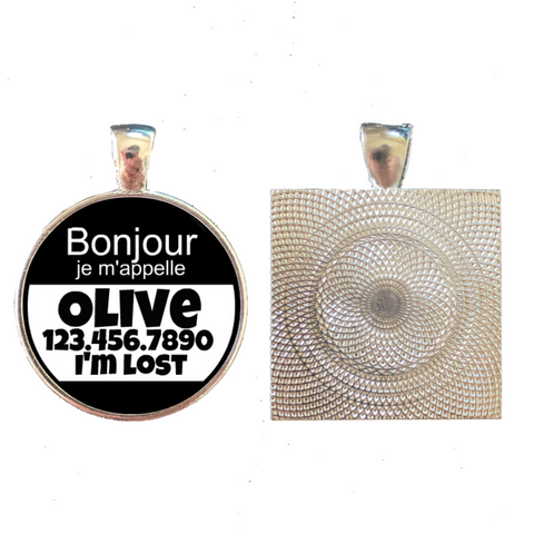 Bonjour, je m'appelle Custom Pet ID Tag