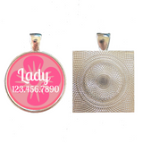 Girly Flower Custom Pet ID Tag-Pink or Yellow-Sofa City Sweethearts-Sofa City Sweethearts