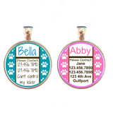 Pink or Blue Paws Custom Graphic Pet ID Tag-Sofa City Sweethearts-Sofa City Sweethearts