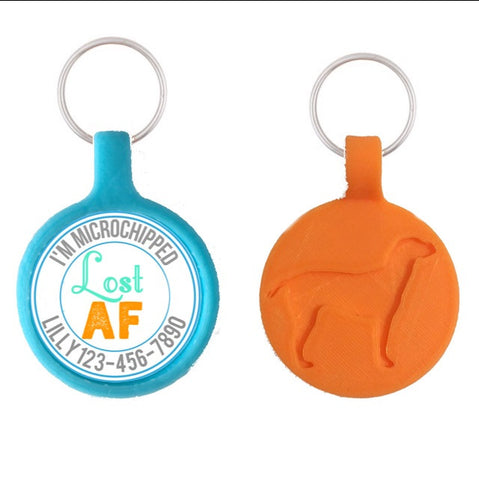 LOST AF Eco-Friendly & Silent Pet ID Tag- Choose your Color