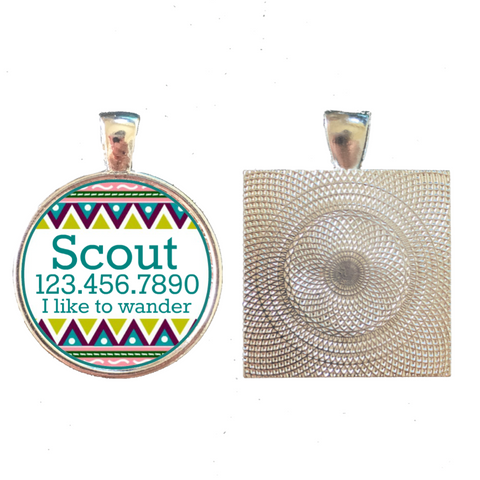 Tribal Boho Pet ID Tag