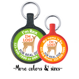 For Real Doe Ecoplastic Pet ID Tag- Choose from many colors.-Sofa City Sweethearts-Sofa City Sweethearts