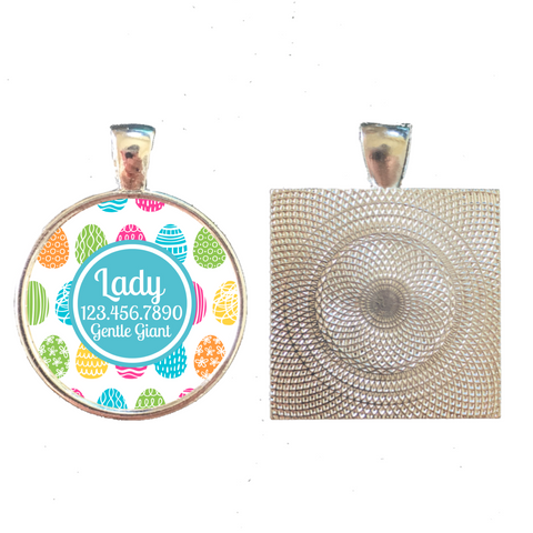 Easter Egg Pet ID Tag