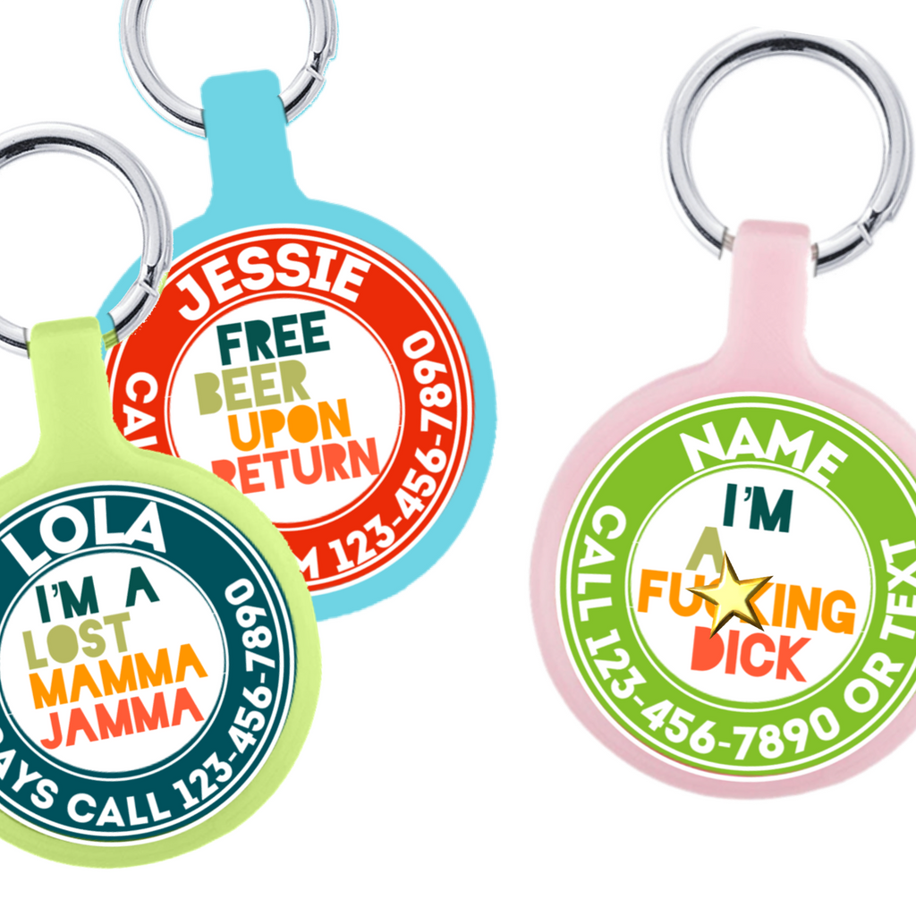 Create Your Own Text Eco-Friendly Pet ID Tag- Choose from many colors.-Sofa City Sweethearts-Sofa City Sweethearts