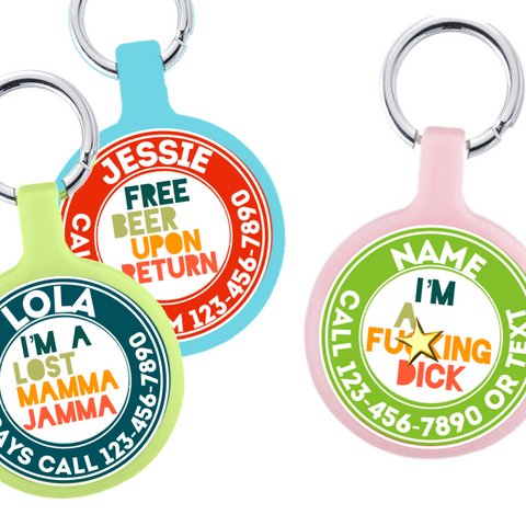 Create Your Own Text Eco-Friendly Pet ID Tag- Choose from many colors.
