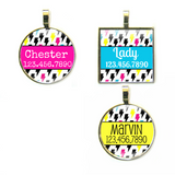 Lightning Bolts Pet ID Tag-More Colors-Sofa City Sweethearts-Sofa City Sweethearts