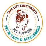 Retro Carnival Stripes Silver Custom Pet ID Tag-Sofa City Sweethearts-Sofa City Sweethearts