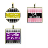 Modern Moroccan Pet ID Tag-More Colors-Sofa City Sweethearts-Sofa City Sweethearts