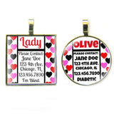 Scattered Hearts Custom Pet ID Tag-Sofa City Sweethearts-Sofa City Sweethearts
