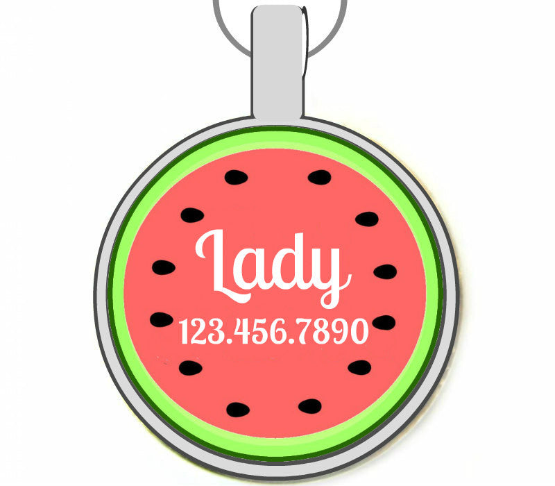 Watermelon Pet ID Tag-Sofa City Sweethearts-Sofa City Sweethearts