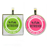 WIDE RETRIEVER Pet ID Tag-Sofa City Sweethearts-Sofa City Sweethearts