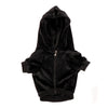 The Panther Black Velour Hoodie