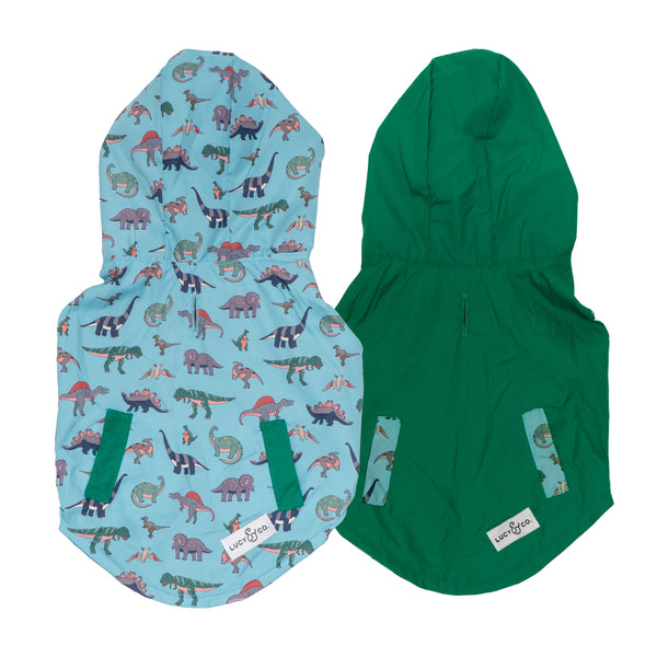 NEW! The Dinomite Delight Reversible Raincoat