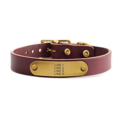Red Leather Collar by Solid Manufacturing