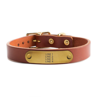 Chestnut Leather Collar by Solid Manufacturing Co.