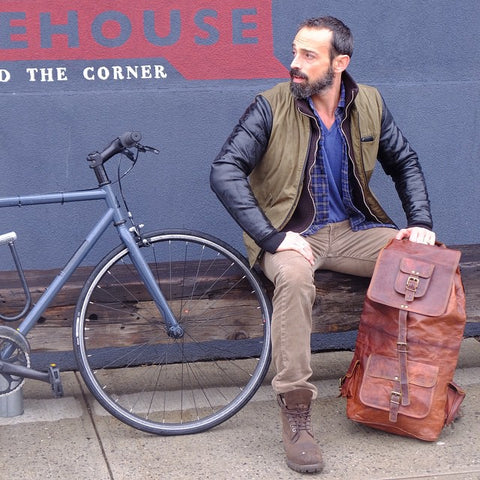 Leather Rucksack For Men