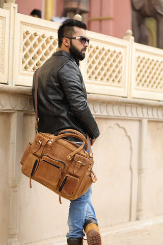 Leather Briefcase Travel