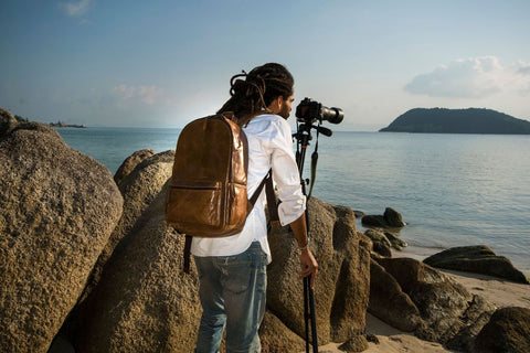 Leather Camera Backpacks