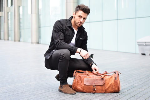Leather Duffel under 100$