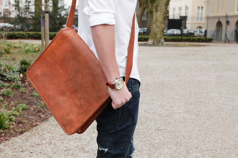 Leather Messenger For Men