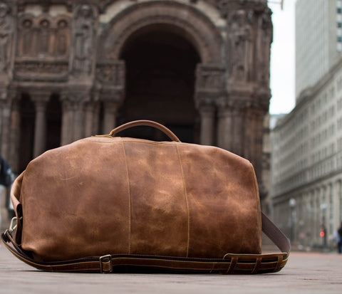 Leather Duffel Travel Bags