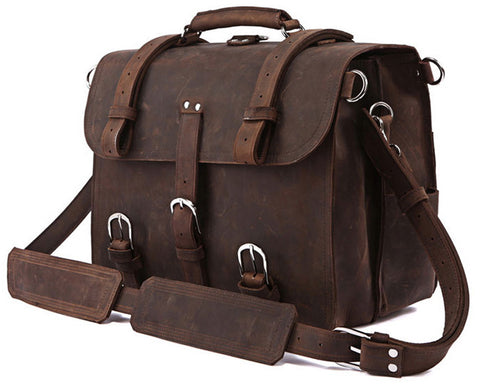 Saddle Leather Computer Bag