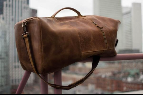 Mens leather Duffel