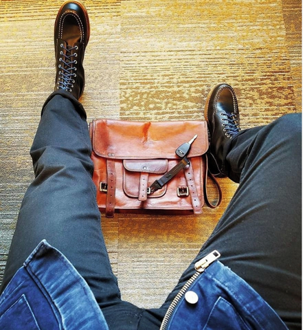 Leather briefcase on budget