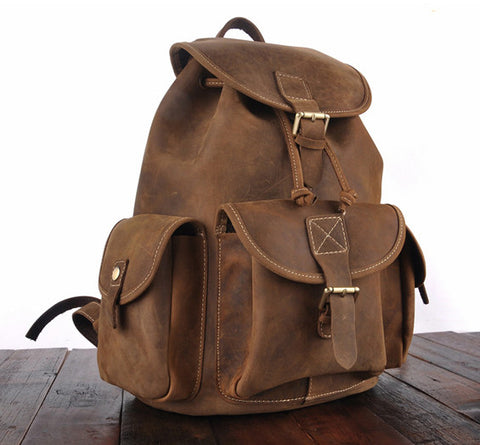 Long Lasting Leather Backpack