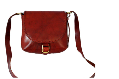 Red Leather Baguette Bag