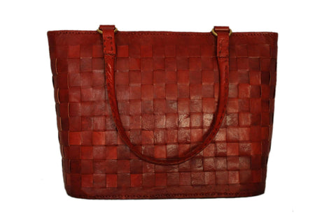 Large Red Leather Tote