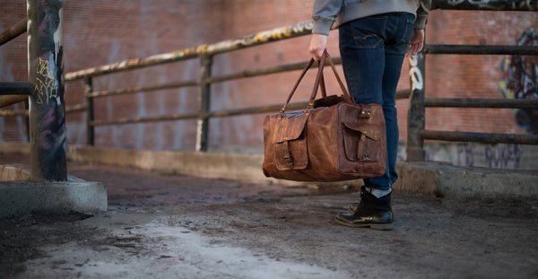 Leather Men's Duffel Bag
