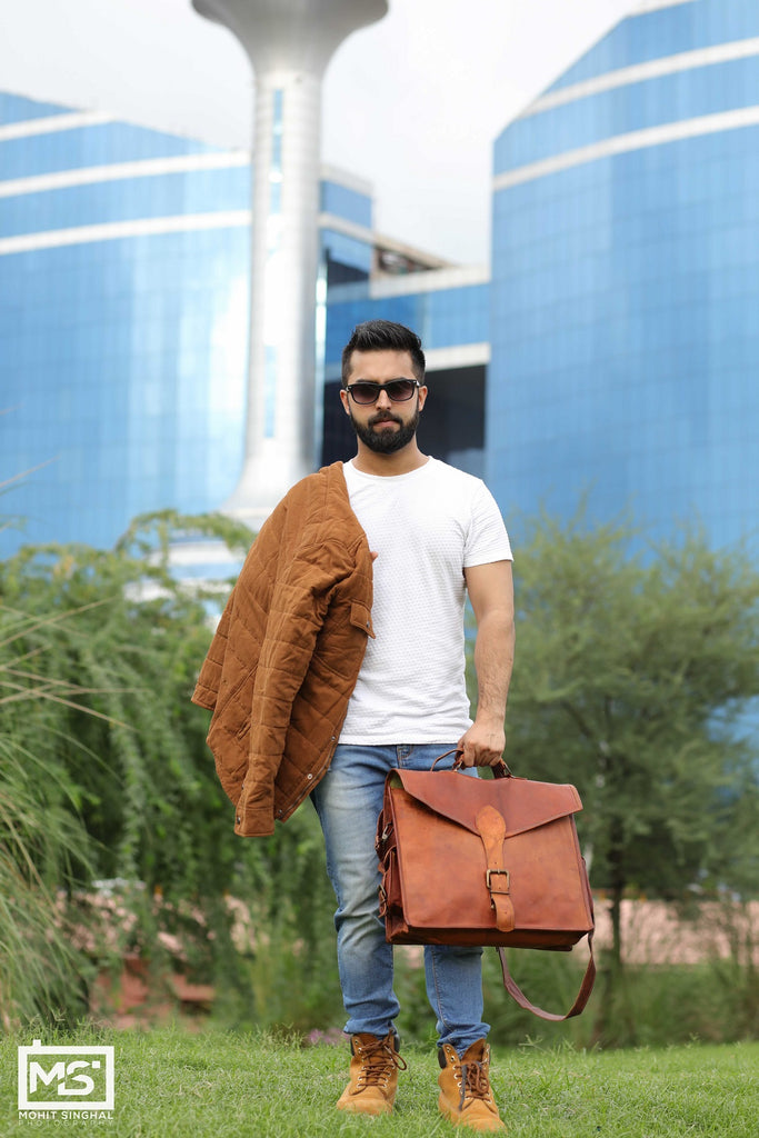 Leather Bags For Men Minimalistic.