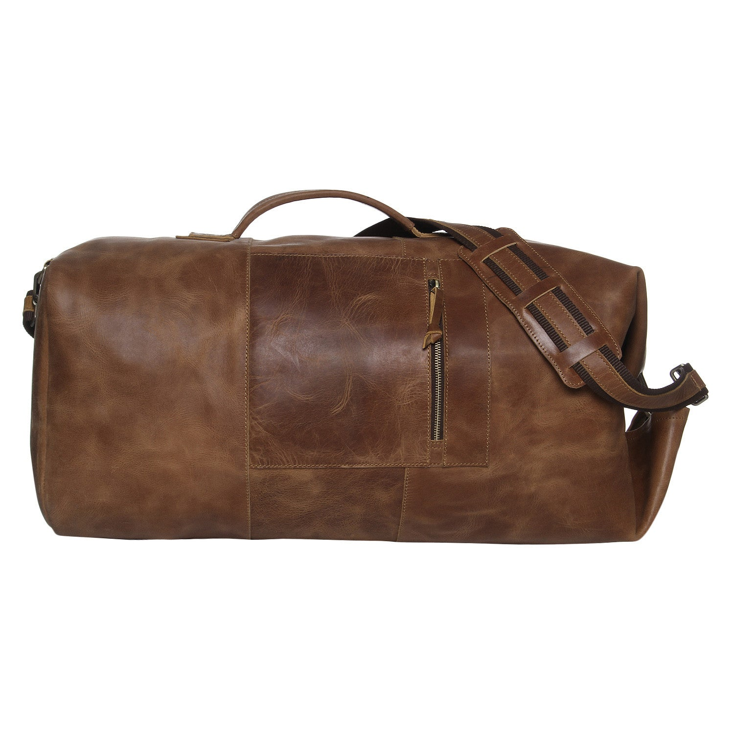4af771d3b947 Leather Military Duffle Bag 24
