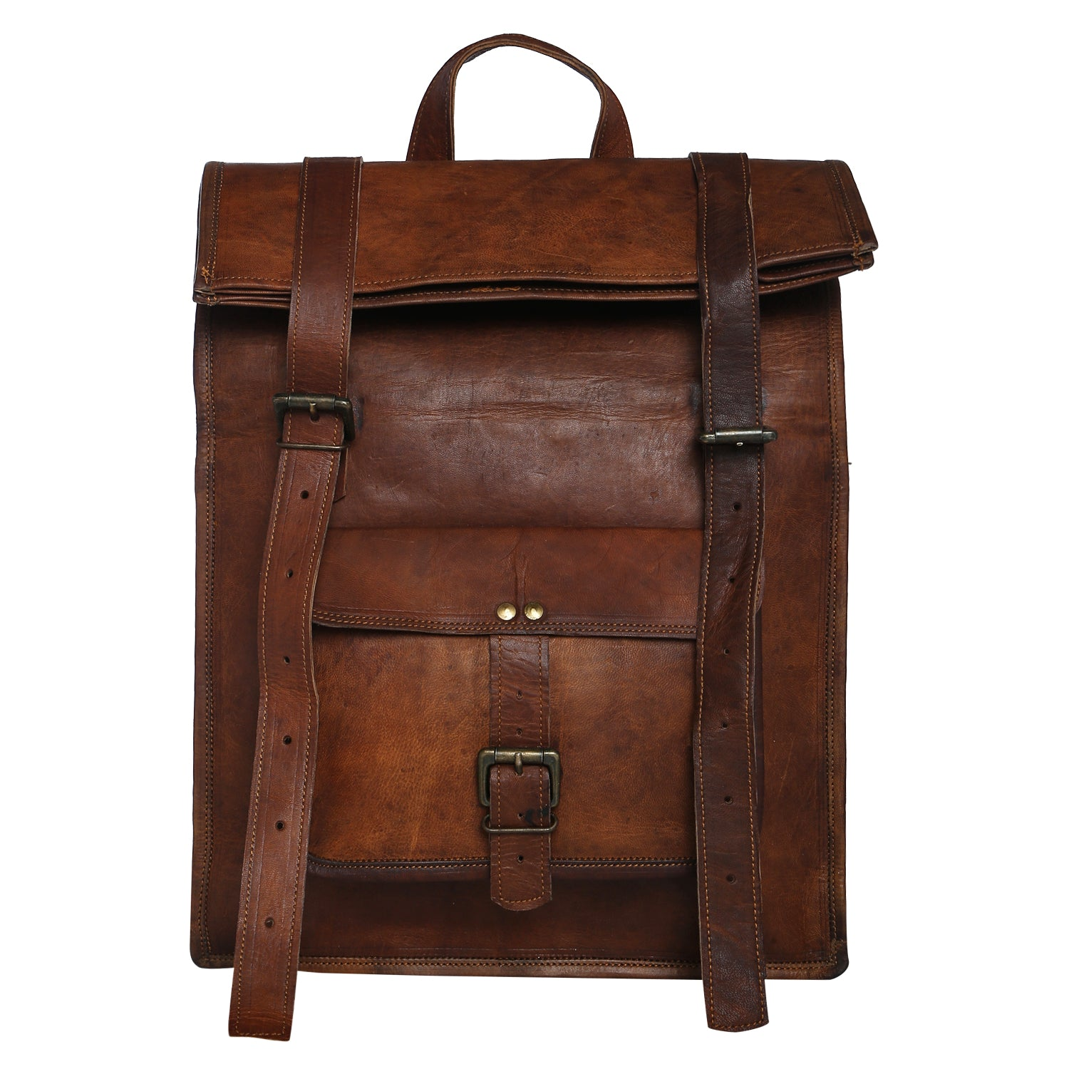 5abe6b21a7b3 Vintage Men s Leather Backpack