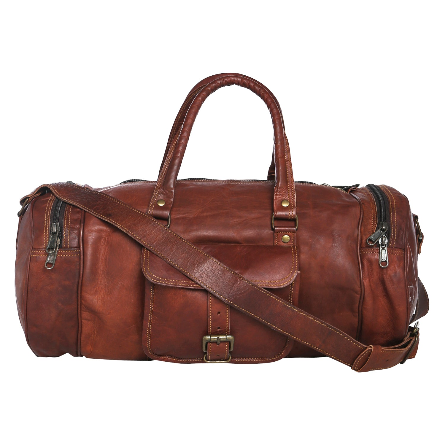 9a2b4a5ba412 Leather Gym Duffel Bag