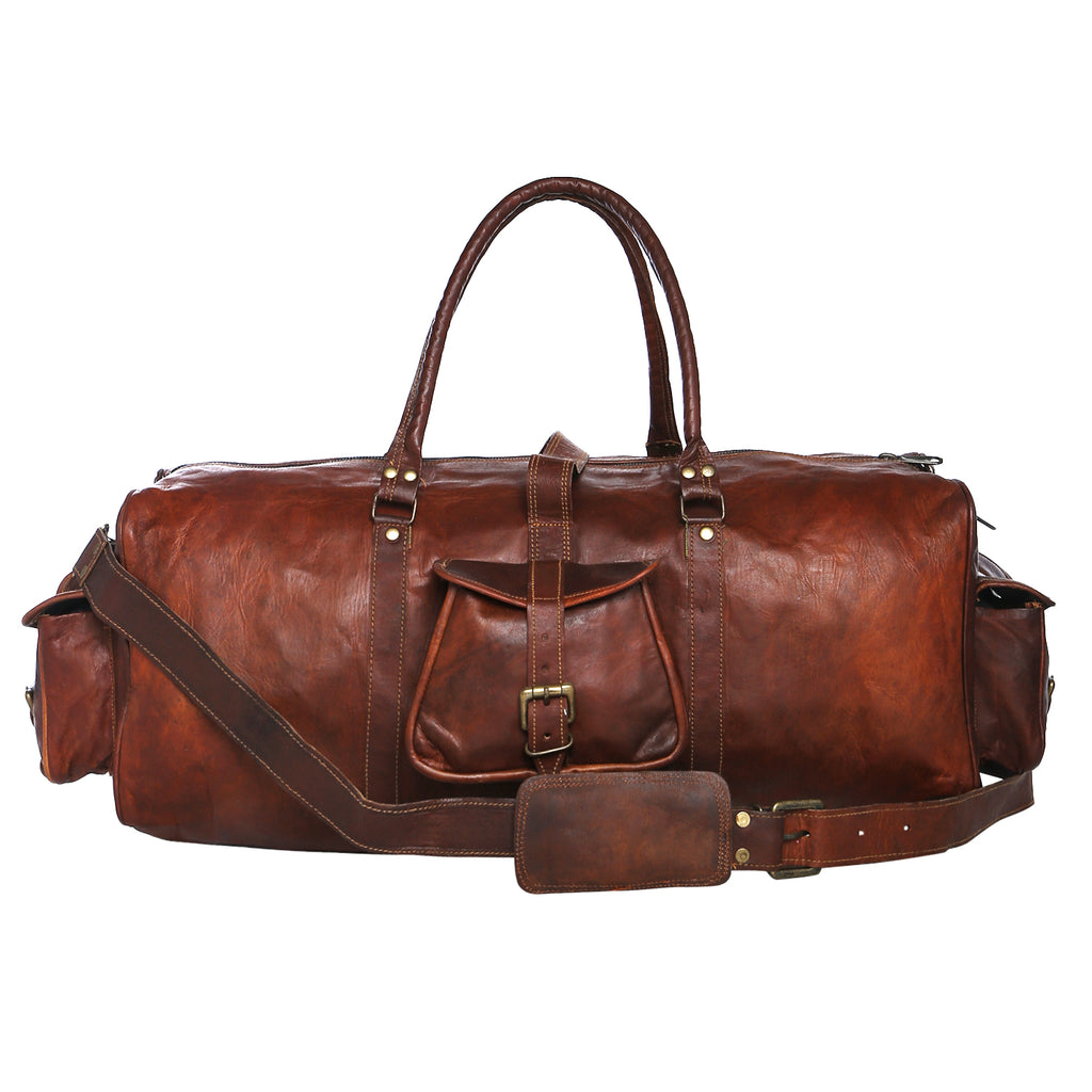 LEATHER DUFFEL BAG FOR MEN