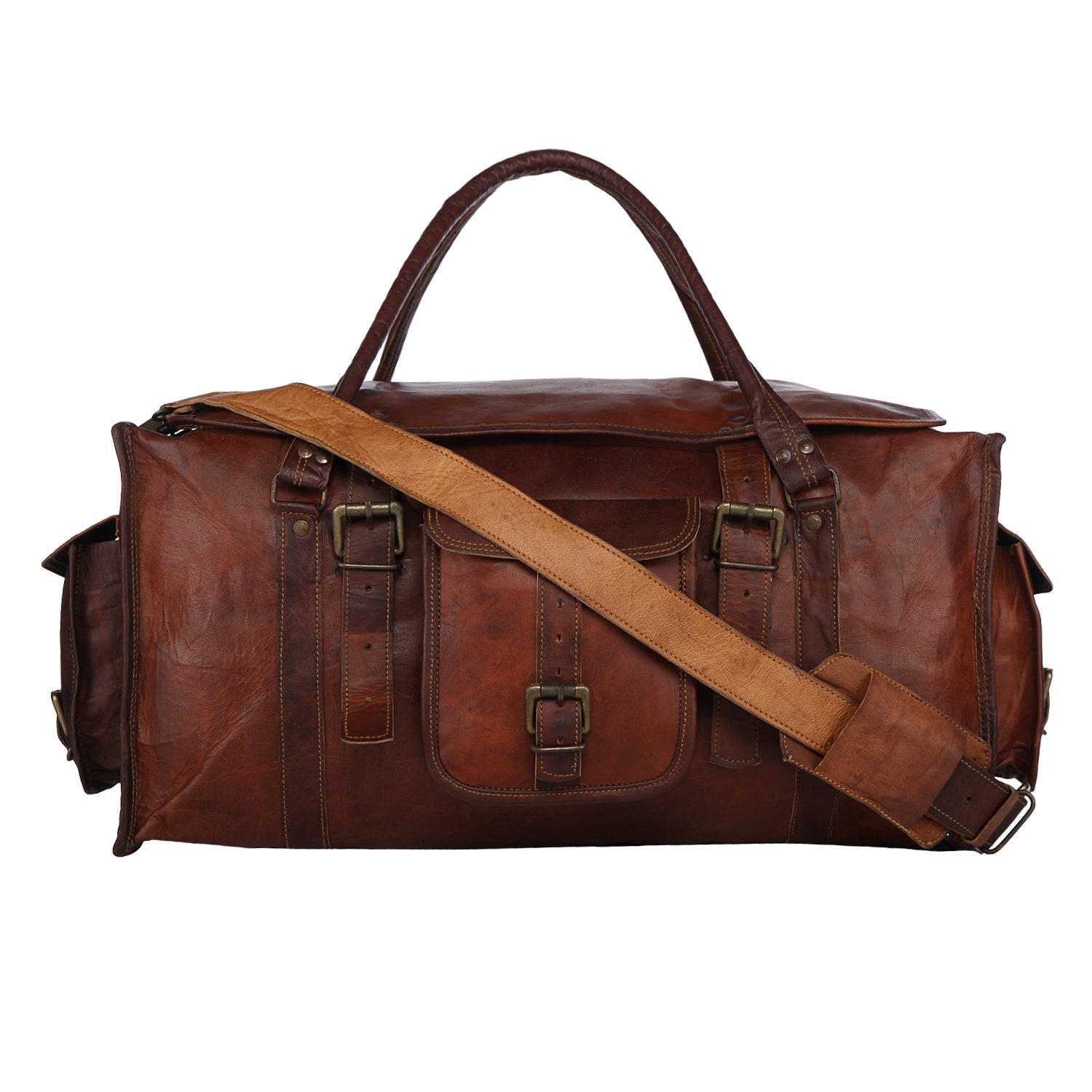 Handcrafted Leather Duffel Bag  519c2ac267196
