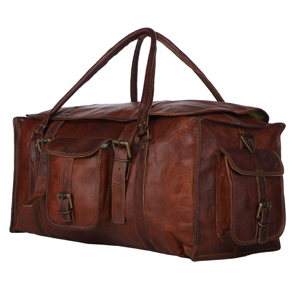 Handcrafted Leather Duffel Bag  42670a1749fb8
