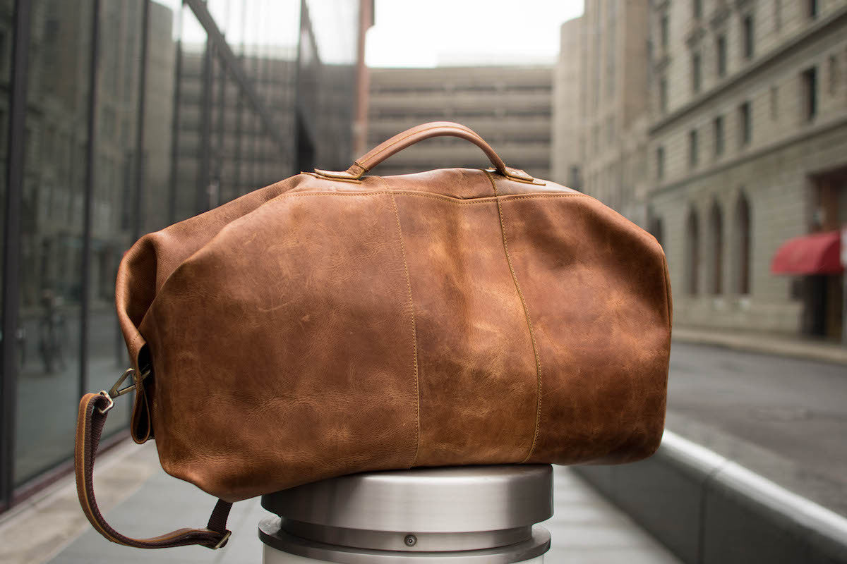 Leather Army Duffel Bag High On Leather