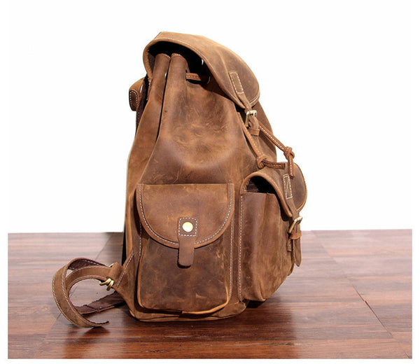 Buy Leather Hiking Backpack High On Leather