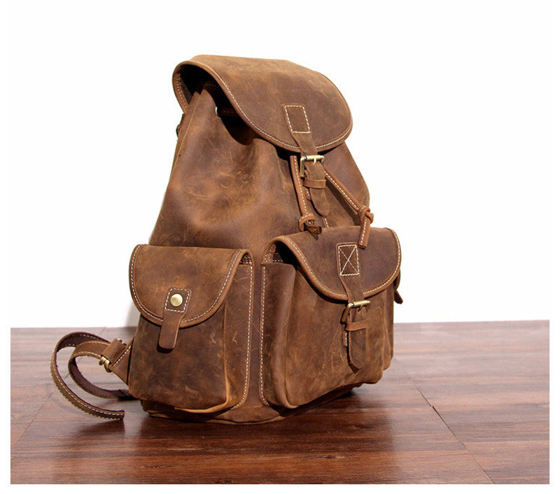 46e83b821c ... Vintage leather backpacks ...