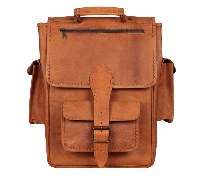 18f2652f61 ... Leather satchel Laptop Backpack ...