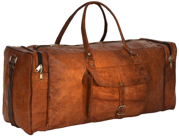 4918de1aa0 Brown Leather Men s Duffel