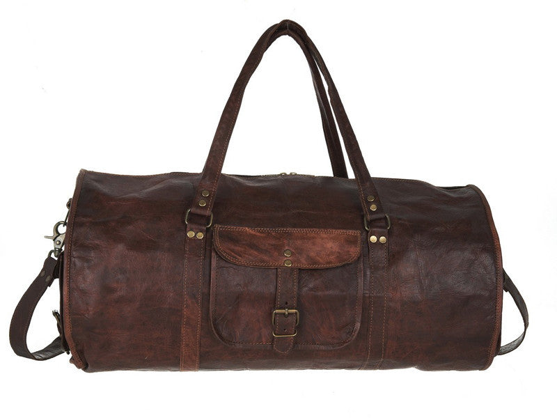 INDIANA JONES LEATHER DUFFEL 20""