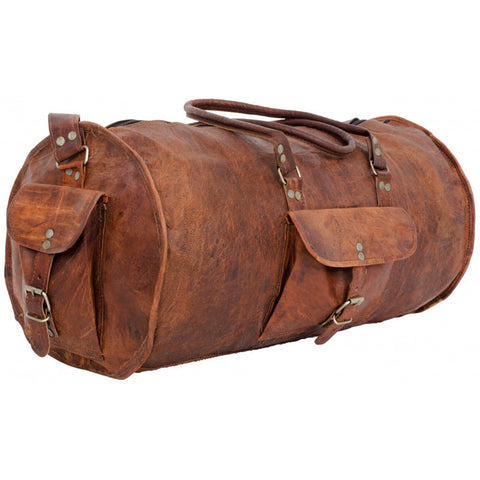 vintage duffle with canvas lining quick view retro leather duffle bag