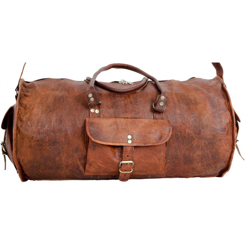 cfb40dfdea84 vintage duffle with canvas lining  vintage leather duffle ...