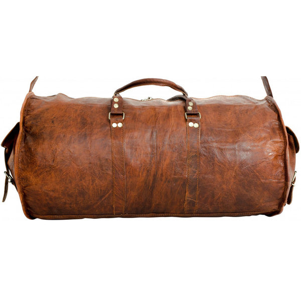 Vintage Leather Duffle Bag 22 Quot High On Leather