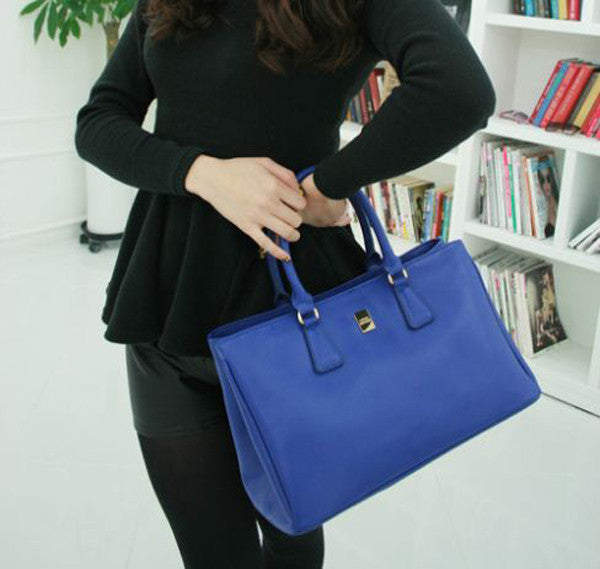 Blue cowhide leather purse  Blue leather handbags  Genuine leather womens  bags ... 433ae72dc2