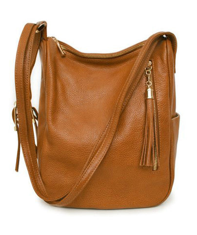 a2129278d3 Brown Shoulder Bag Convertible Backpack